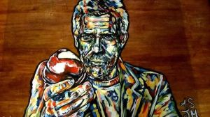 Acrylic Painting Hugh Laurie (Glass) / House by AnthonySturgeon