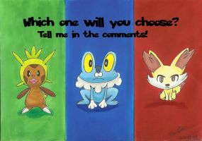 Chespin, Froakie or Fennekin-Which will you choose by Randomous