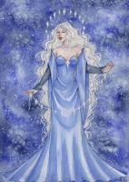 Commission: Varda, Queen of the Stars by ArunaWolf