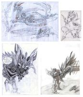TFP: BH Predaking and Shockwave sketchdump by Unita-N