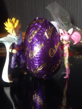 Gohan X Sailor Chibi Moon: happy Easter by MrL3821