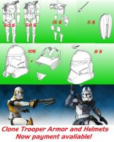 Pepakura files for payment  Clone Trooper Phase II by Sanek94ccol