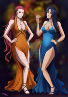 Kushina and Mikoto by mario-reg