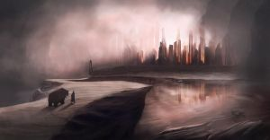 Hard edged city by michaeldaviniart