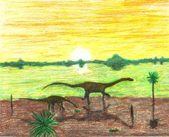 Sauropods Go South by Klaypersonne