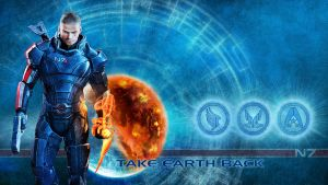 Paragon Shepard wallpaper 2 by shatinn