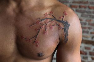 Cherry blossom tattoo by Angelique Grimm by Angelique-Grimm