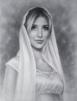 Portrait drawing of a beautiful lady by Drawing-Portraits