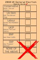 2010 UK Election Ballot paper by deejaywill