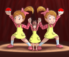 [Pokemon Black ad White] Triplets? by Display-This-Anyway