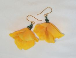 springtime blooms earrings - gold by ACrowsCollection