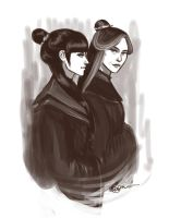 Mai and Ursa by aqvarelles