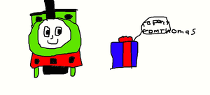 Percy's Present from Thomas by Simpsonsfanatic33