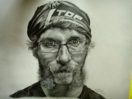 Pencil Self Portrait by sappet