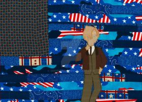 America Quilted Wallhanging by snowtigra