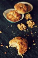 Muffins with nuts, chocolate and coconut. by FiorOf