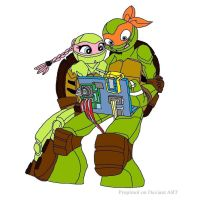 TMNT Michelangelo and Amoly - 2 by joellejey