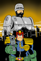 Murphy and Dredd by EarthmanPrime