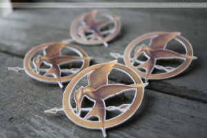 mockingjay pins by resubee