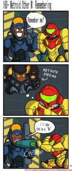 Metroid Other M: Remembering by BrokenTeapot