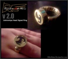 Ushiromiya Head Signet Ring V2 by ElderKain