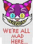 We're All Mad Here cheshire cat minecraft grid by ShadowxJamie