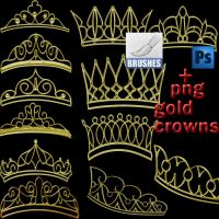 gold crowns png and abr by roula33