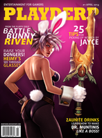 Playderp Mag #1 - Battle Bunny Riven by martaino