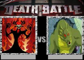 Deathbattle4:Aku vs Shendu by morgrag
