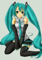 Collab: Miku Hatsune by Line-arts