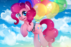 Pinkie Pie in the sky~ by Twigileia