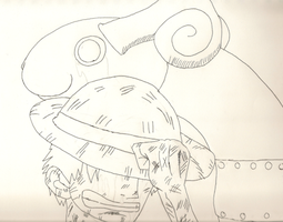 Nakama Lost Uncolored by StraylightRevelation