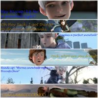 Hiccup getting a snowball to the face by Frostismylife