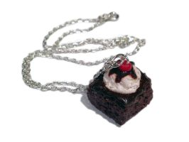Brownie Sundae Necklace/Charm by delectablycharming