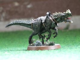 Battle Lizard miniature by Baryonyx62