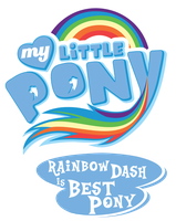 Fanart - MLP. My Little Pony Logo - Rainbow Dash by jamescorck