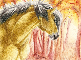 ACEO - Autumn's here by ShadeofShinon