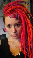 pink and orange dreadies by we-will-break