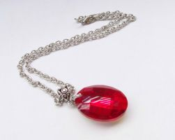 Red Crystal Necklace by ms-pen