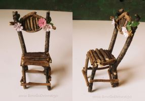 Fairy Chair with pink Flowers by RevelloDrive1630