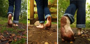 Autumn barefoot walk 4 by PhilsPictures