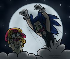 Lola and Sonic - human by alittleofsomething