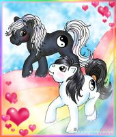 Yin and Yang ponies by MiniBaah