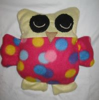 Sleeping Owl Warm Rice Bag by TheCrimsonCrow