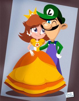 Daisy and Luigi by Captain-Paulo