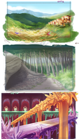 Landscapes practice by Izuma
