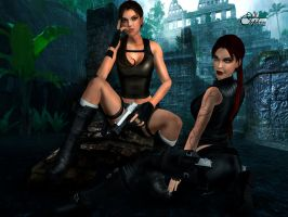 Lara and Doppelganger 04 by Orphen5