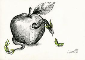 This is my apple now. by LucieOn