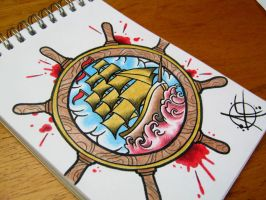 Ship Flash Design by Frosttattoo