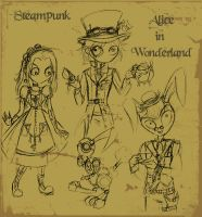 SteamPunk Wonderland by MelissaDalton